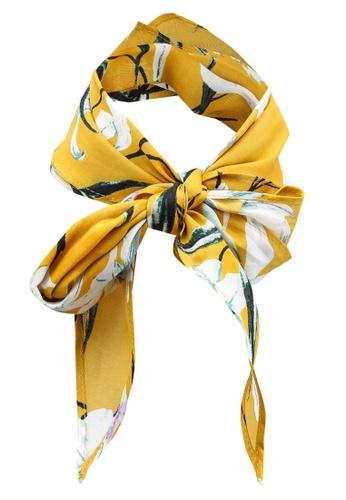 Banana Republic yellow Diamond Neckerchief E0880AC46D8116GS_1