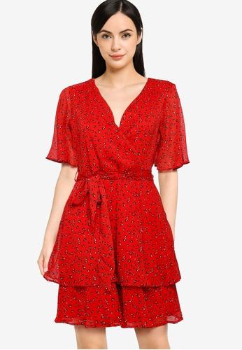 LC WAIKIKI red Chiffon Dress 8DBE6AAF24F0F4GS_1