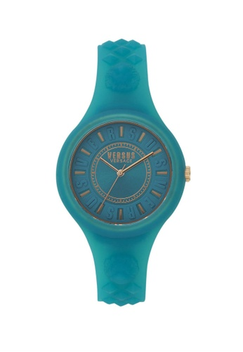 Versus green Fire Island Jelly Green Silicone Strap Ladies Watch VE464AC89OUGMY_1