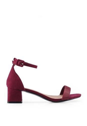 Rubi red Lola Low Block Heels D3BC3SH6F2D425GS_1
