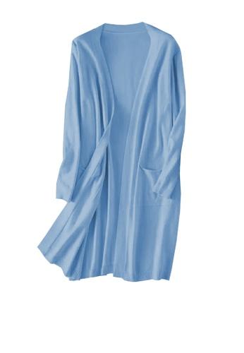 Twenty Eight Shoes 藍色 VANSA 純色披肩針織外套  VCW-C1342 D1BB7AA5D2EFF1GS_1