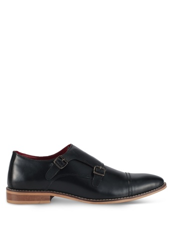ACUTO black Leather Dress Shoes AC283SH0SL5YMY_1