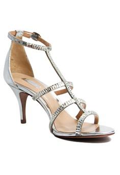 Schutz Lavinia Heeled Transparent Strap Sandals