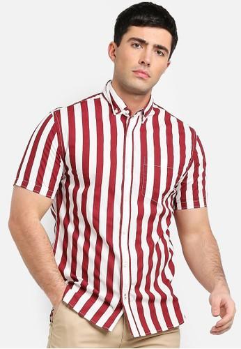 MANGO Man red Regular-Fit Striped Shirt 55D71AA184B6C3GS_1