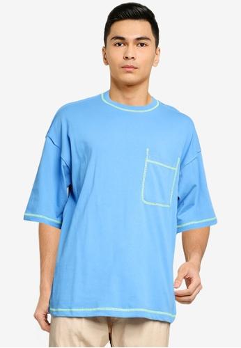niko and ... blue Pocket Tee E6879AA41B81A3GS_1