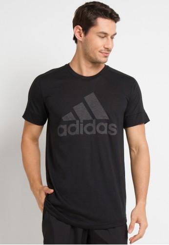adidas black Adidas M Id Big Logo T 6A00BAA2005DBEGS_1