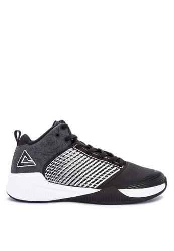 PEAK black and white E74997A Men's Basketball Shoes Rising Star Series 72C87SHCDF4E45GS_1