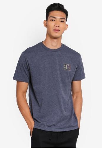 Billabong 藍色 品牌印花T恤 554D3AAF5189A6GS_1