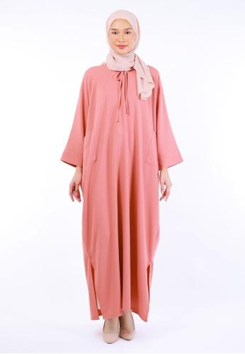 Inhanna pink RUUHA Lounge Dress Coral Pink 9388EAAF7B4D1BGS_1