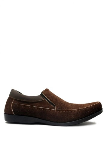 D-Island brown D-Island Shoes Slip On Elegant Genuine Leather Brown DI594SH04GKDID_1