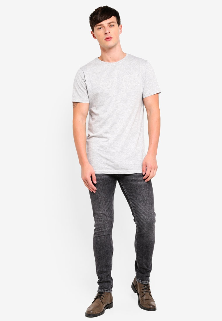 Grey Grey Longline Topman T Shirt fXw1xZHq