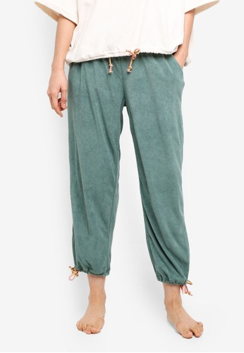 Cotton On Body green 7/8 Terry Lounge Pants 55C99AA9732A14GS_1