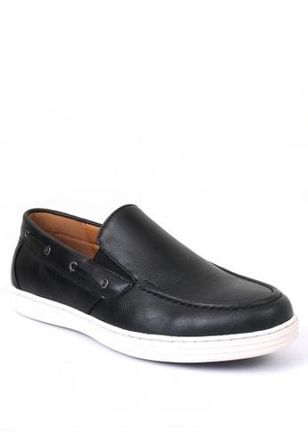 7soles black Robin Men's Loafers D4C6FSH1503565GS_1