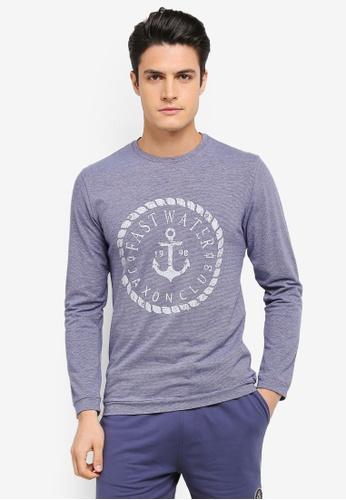 JAXON blue and multi and navy Nautical Long Sleeve Tee B9DB5AA0F244A5GS_1