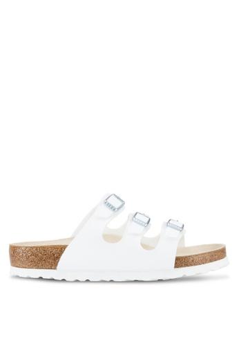 Birkenstock white Florida SFB Sandals BI090SH59JQUMY_1