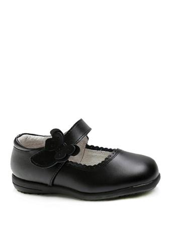 Twenty Eight Shoes 黑色 VANSA 真皮學生鞋   VSK-D8805 D9DF6KS789E7A2GS_1