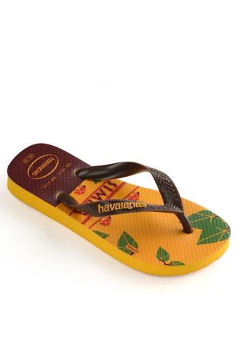 Havaianas yellow Lion King Flip Flops C698FSH4326FDCGS_1