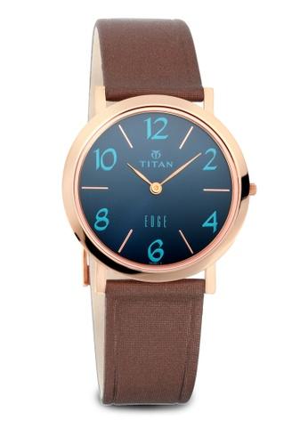 Titan x Naelofar brown Titan x Naelofar, Titan Edge Watch 679WL05 TI758AC0SIL0MY_1