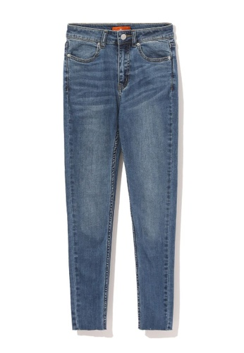 tout à coup blue Cropped skinny jeans 3746AAA47018B1GS_1