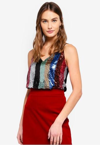 3cd99c35bd6dd Buy WAREHOUSE Rainbow Sequin Cami Online on ZALORA Singapore
