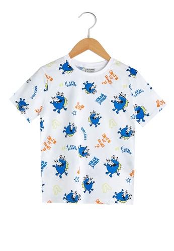LC Waikiki white Cotton Boy T-Shirt 14472KA71001DCGS_1
