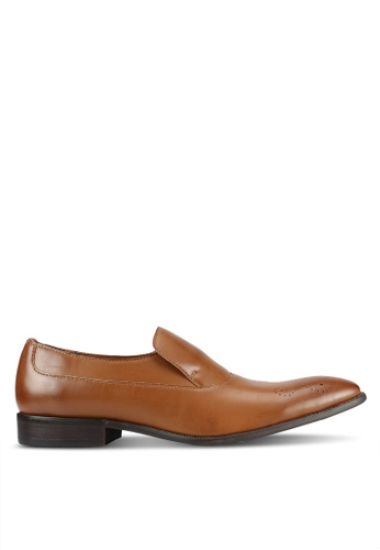ZALORA brown Faux leather Business Loafers 9FA91AA905917CGS_1