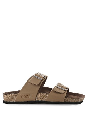 CARVIL brown Sandal Footbed Men Kenzo-02M 63416SH2051DB2GS_1