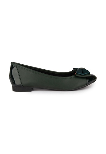 MAUD FRIZON green Ballerinas With Double Layers Bow 4DCC3SH1F85508GS_1