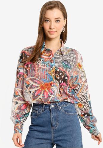 Desigual multi Lena Floral Puffed Shirt 9A87AAA0D87689GS_1