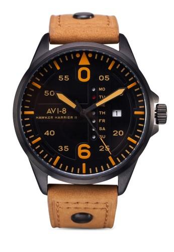Hawkerzalora 台灣 Harrier II 系列皮革圓錶, 錶類, 休閒型