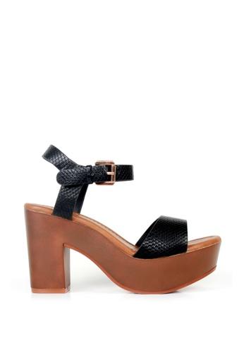 London Rag black London Rag Womens Heel Sandals SH1374 LO704SH2UMDAHK_1