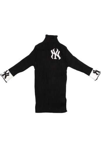 Moejoe black MOEJOE Turtleneck Knitted Dress - Black 208B9KAB0B5165GS_1
