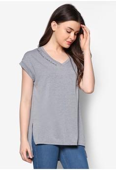Neckline Text Oversized Tshirt