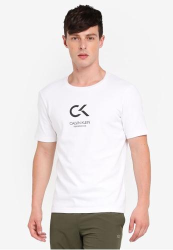 Calvin Klein 白色 Icon Tee - Calvin Klein Performance C795EAA4E7D5AFGS_1