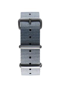 NATO霧面銀灰色錶帶