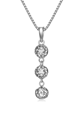 MaBelle silver 14K/585 White Color Gold Pendant Ball Necklace 209DAAC7EBDD0AGS_1