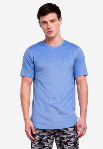 UniqTee 藍色 圓領上衣 C5B3FAAA183C4FGS_1