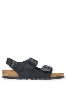 Birkenstock-Milano 扣環繞踝平底涼鞋
