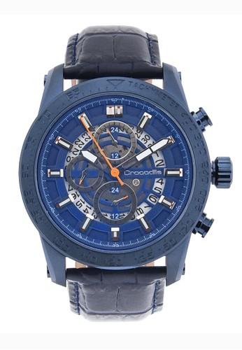 Crocodile Timepiece blue Jam Tangan Pria Analog Sports Chrono Strap Kulit  CM-012F24C Jam Tangan Pria Tali Kulit Biru 52999AC70EA2A0GS_1