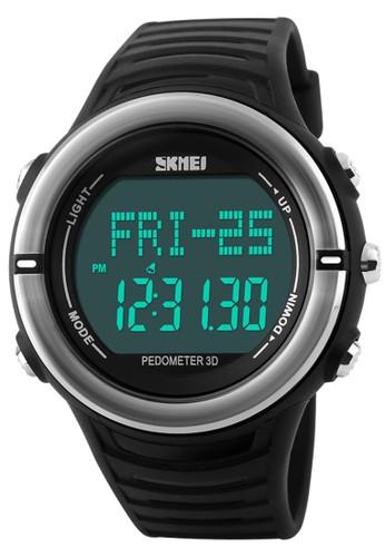 Digitec black Skmei Heart Monitor - Jam Tangan Pria - Black - Rubber Strap - 1111BLK DI108AC42BUNID_1