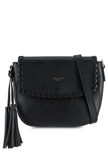 Unisa black Weave Fashion Sling Bag 95832ACF205A6FGS_1