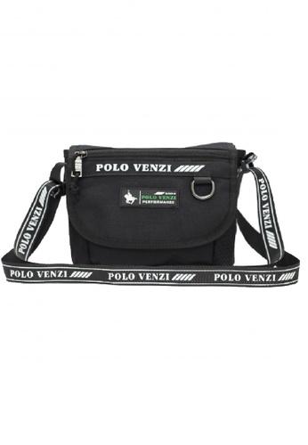 POLOVENZI black POLOVENZI MEN SLING BAG / CROSSBODY BAG / BELT BAG 20F14AC9493BFEGS_1