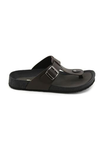 Bata Bata Men Dark Brown Sandals - 8614453 2DC67SHEE4EF8DGS_1
