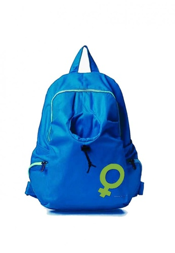 Lucky JX blue Wil Nylon Water Resistant Travel Backpack 44B6AAC4A3FB59GS_1