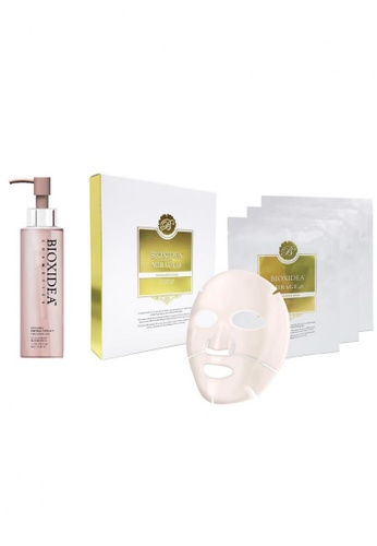 Bioxidea Bioxidea™ Covering Imperial Extract Cleansing Gel (150ml) + Mirage48 Excellence Gold Face & Body Mask Set BI930BE51TIUSG_1