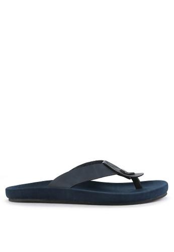 NIEL blue Zidan Synthetic Leather D0CA3SH822DB17GS_1