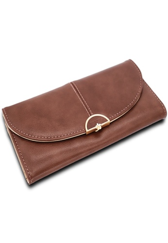 Polo Hill brown Polo Hill Debossed Logo Tri-Fold Wallet 0A824AC6F92BB6GS_1