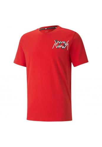 puma red Parquet Street Graphic Men's Basketball Tee 16B01AAA6CDAEFGS_1