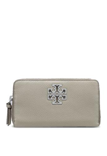 TORY BURCH grey Britten Zip Continental Wallet (NT) F3706ACF3564EAGS_1