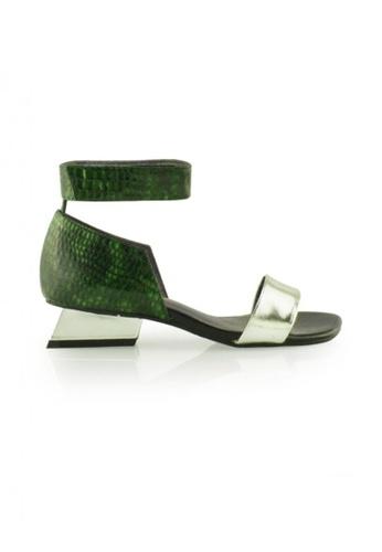 Gripz silver Ultra Open Toe Wedge Sandal GR357SH08JQPSG_1